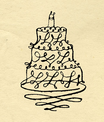 cake on paper